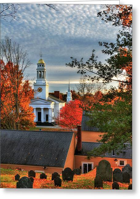 Autumn In New England - Concord Ma Greeting Card by Joann Vitali