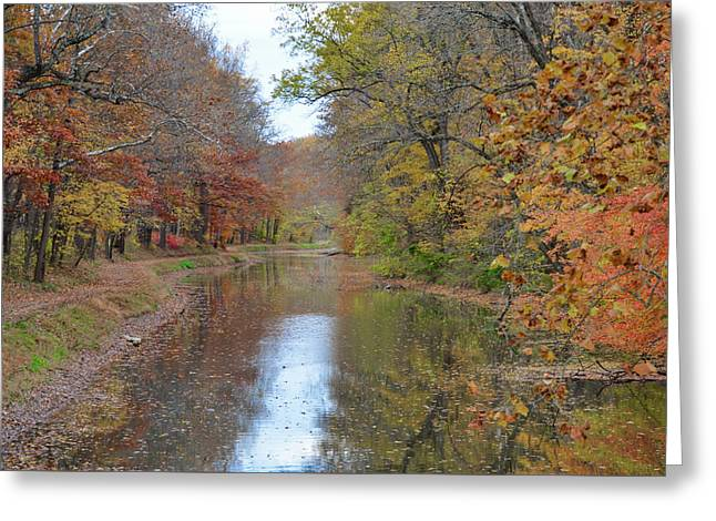 Autumn In New Jersey - Lambertville Greeting Card by Bill Cannon