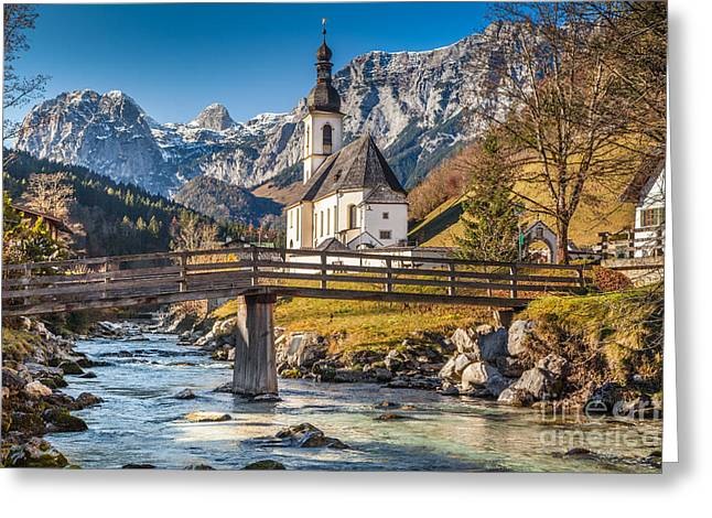St Sebastian Greeting Cards - Autumn in Ramsau Greeting Card by JR Photography