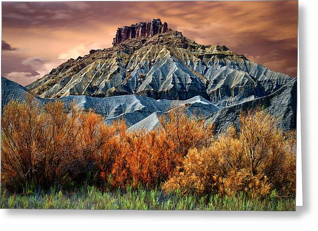 Colorful Cloud Formations Greeting Cards - Autumn in Summer Greeting Card by Renee Sullivan