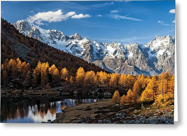 Alps Greeting Cards - Autumn In The Alps Greeting Card by Alfredo Costanzo