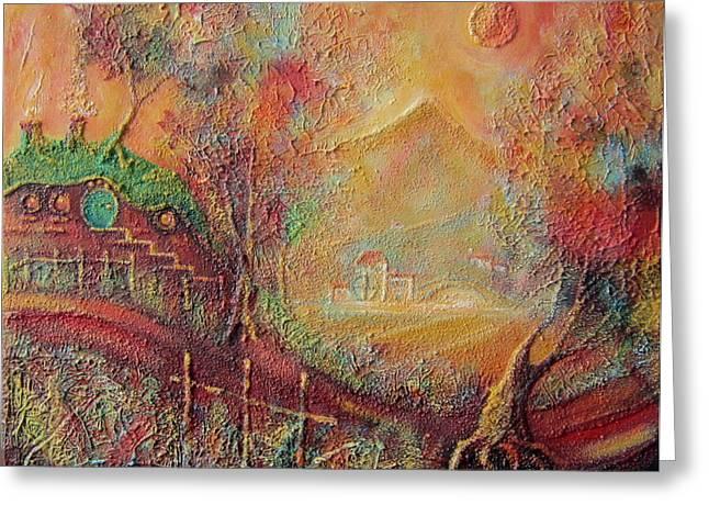Lord Of The Rings Greeting Cards - Autumn in the Shire Bag End Greeting Card by Joe  Gilronan