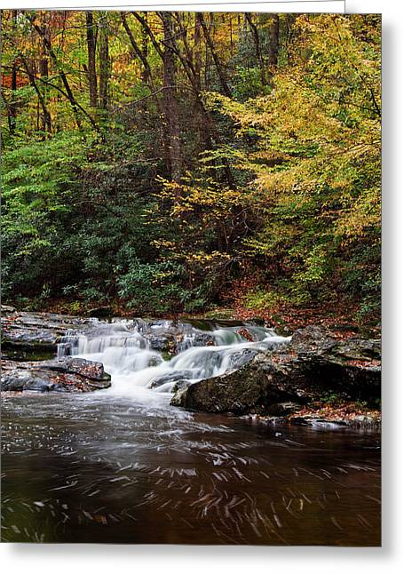 Rapids Greeting Cards - Autumn in the Smokies Greeting Card by Andrew Soundarajan