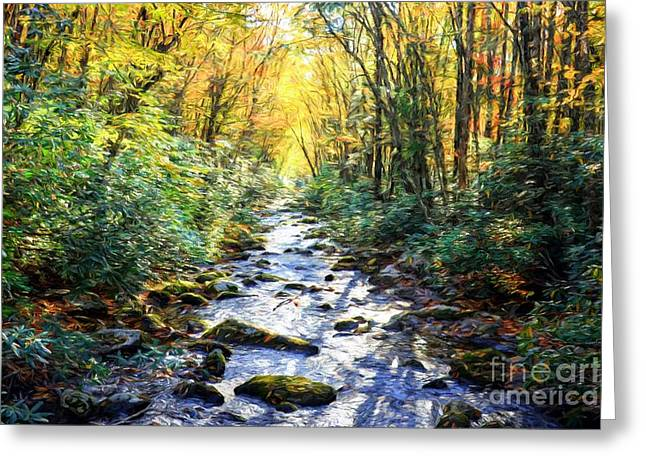 Autumn In The Smoky Mountains Greeting Card by Mel Steinhauer