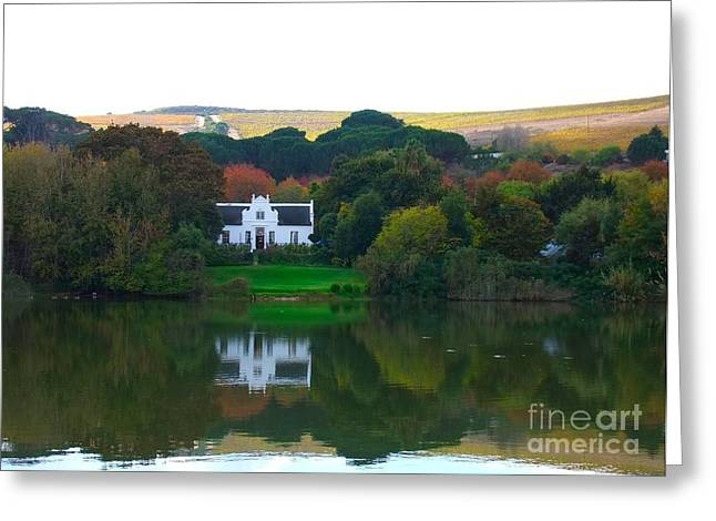 Winelands Greeting Cards - Autumn in the Winelands Greeting Card by Heather Nel