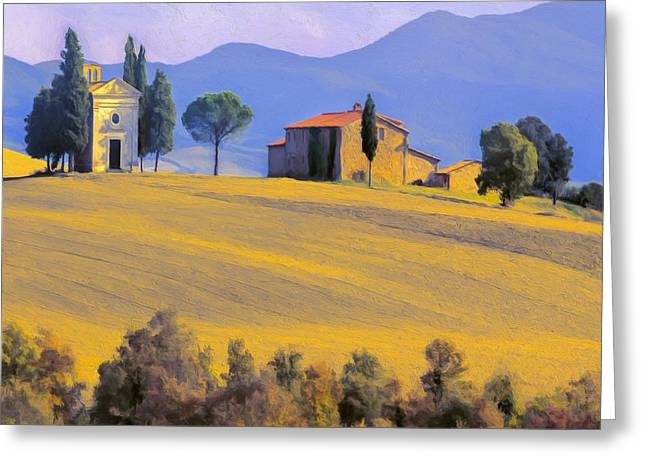 Siena Chapel Greeting Cards - Autumn in Tuscany Greeting Card by Dominic Piperata