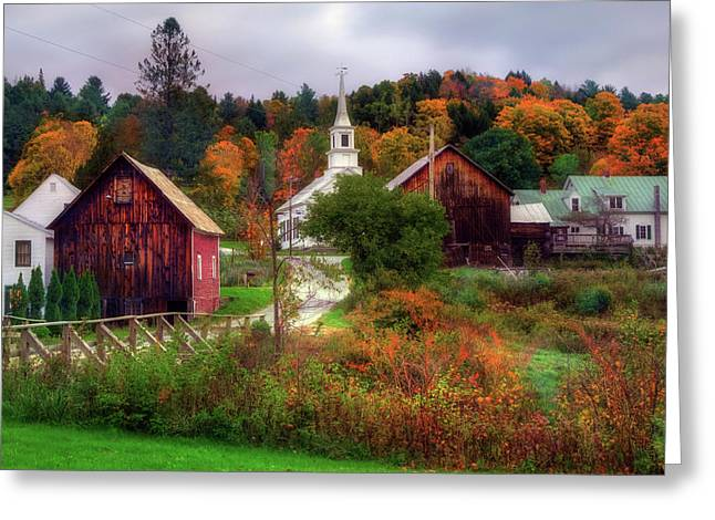 Autumn In Waits River Vermont Greeting Card by Joann Vitali