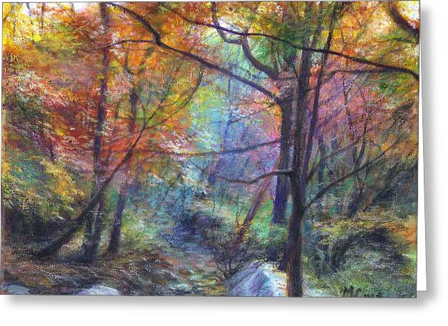 Turning Leaves Pastels Greeting Cards - Autumn Invitation Greeting Card by Mark Ivan Cole