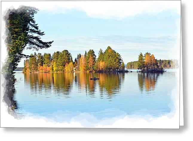 Print Photographs Greeting Cards - Autumn Island Greeting Card by Torfinn Johannessen