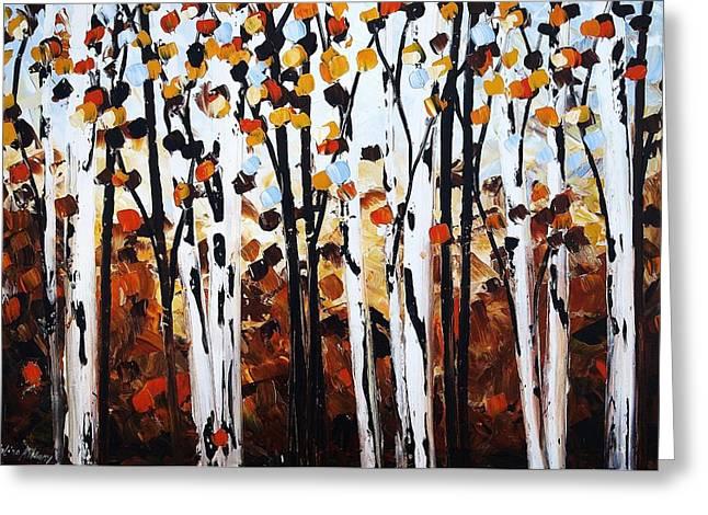 Jolina Anthony Greeting Cards - Autumn Greeting Card by Jolina Anthony