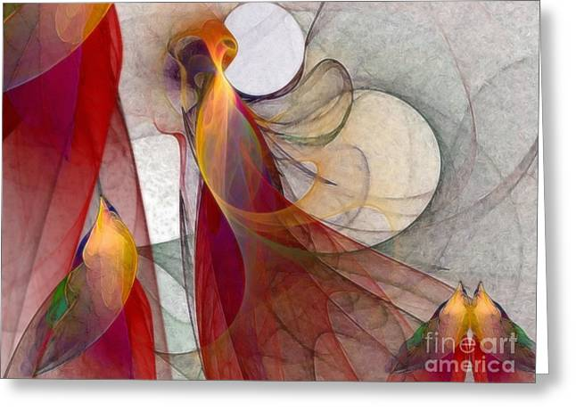 Autumn Greeting Card by Karin Kuhlmann