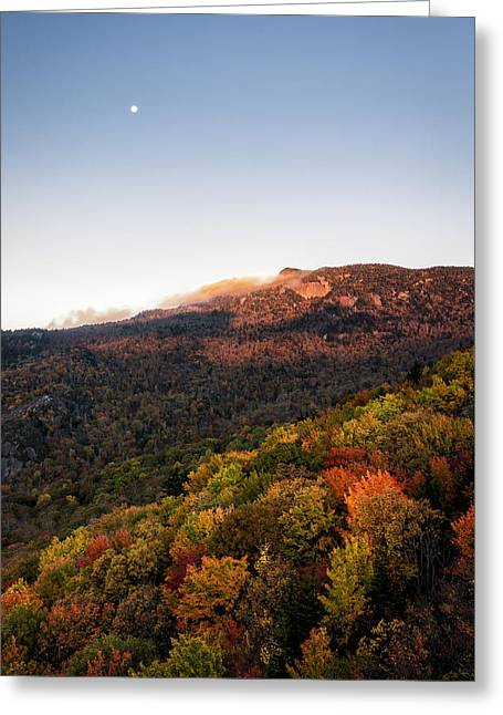 Moonrise Greeting Cards - Autumn Kiss Greeting Card by Victor Ellison