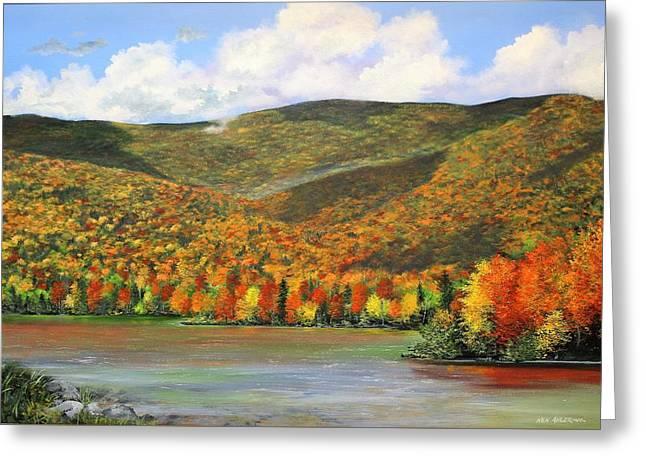 Autumn Lake Greeting Card by Ken Ahlering