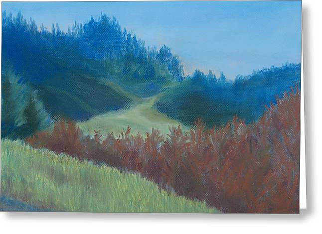 Oregon Pastels Greeting Cards - Autumn Landscape of the Mind Greeting Card by Jenny Armitage