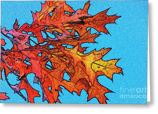 Shades Of Red Greeting Cards - Autumn Leaves 14 Greeting Card by Jean Bernard Roussilhe