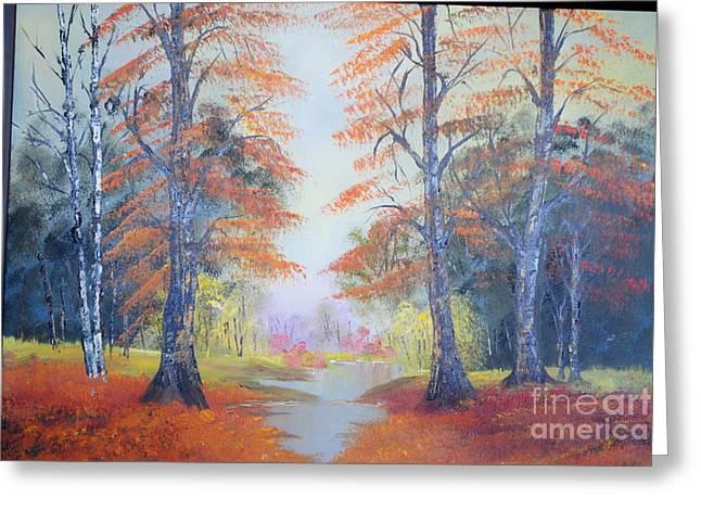 James Higgins Greeting Cards - Autumn Leaves Greeting Card by James Higgins