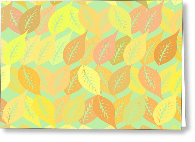 Autumn Leaves Pattern Greeting Card by Gaspar Avila