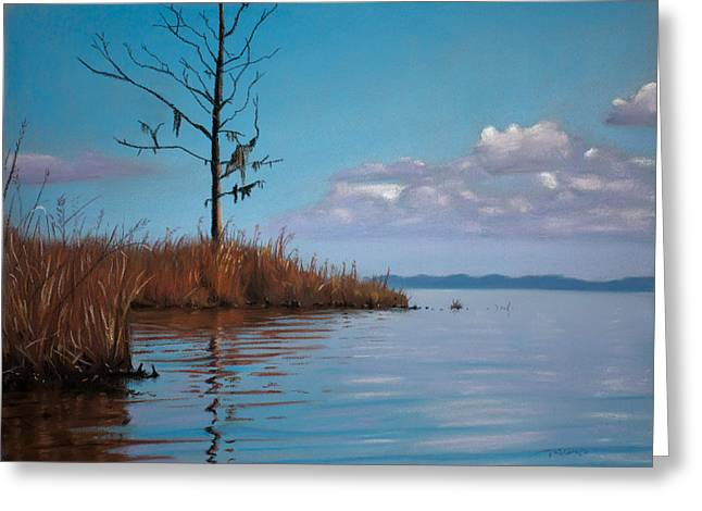 Autumn Pastels Greeting Cards - Autumn Marsh Reeds Greeting Card by Christopher Reid