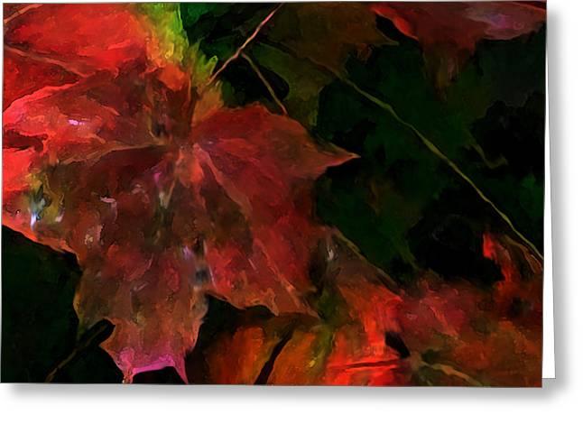 Autumn Art Mixed Media Greeting Cards - Autumn Moods 5 Greeting Card by Carol Cavalaris