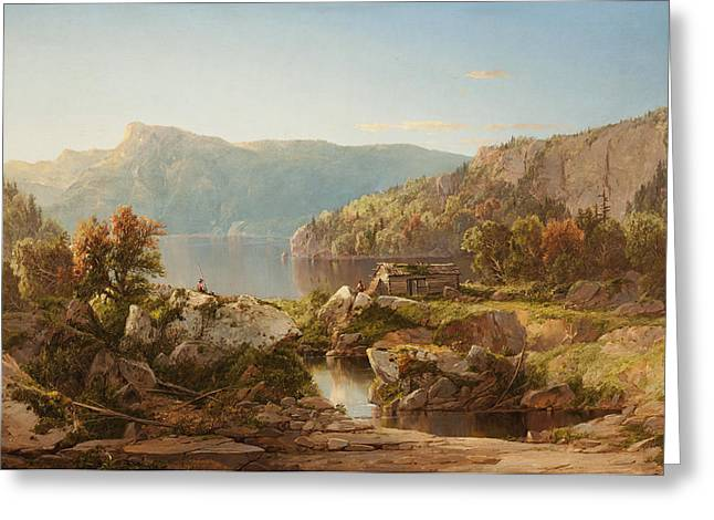 Autumn Morning On The Potomac Greeting Card by William Sonntag