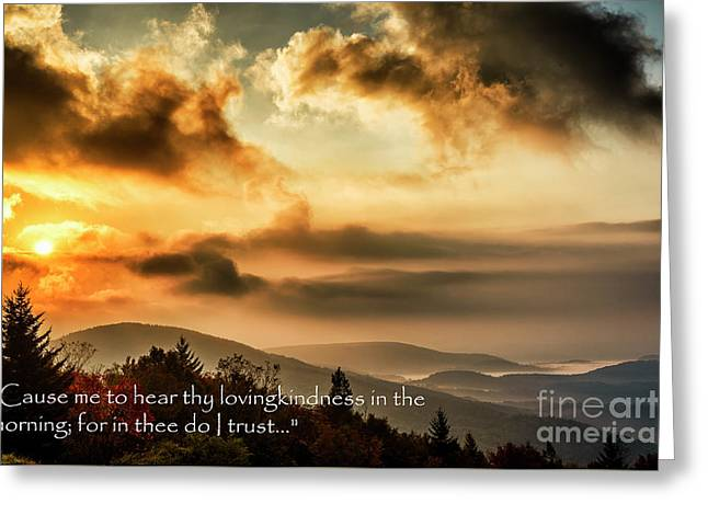 Autumn Morning Scripture Greeting Card by Thomas R Fletcher