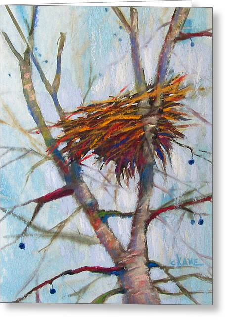 Berry Pastels Greeting Cards - Autumn Nest Greeting Card by Christine Camp