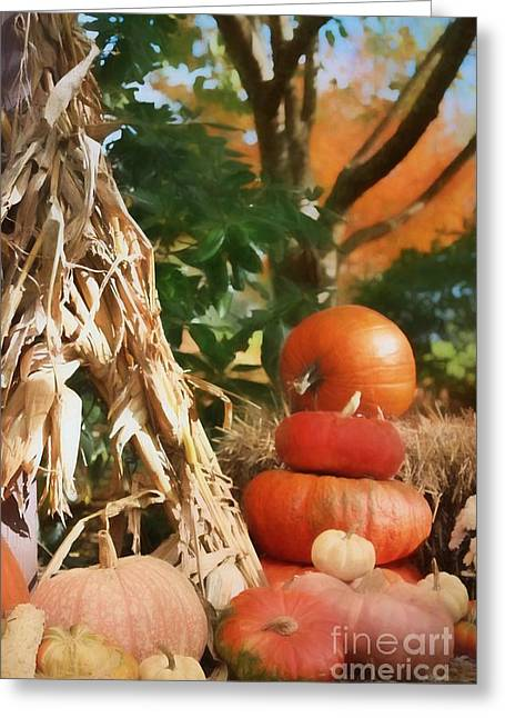 Autumn On Display Greeting Card by Benanne Stiens