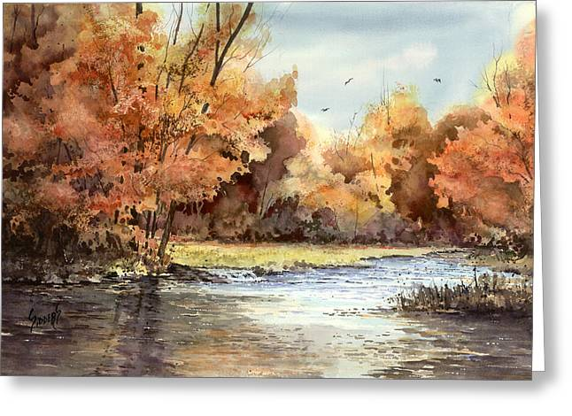 Autum Greeting Cards - Autumn On The Buffalo Greeting Card by Sam Sidders