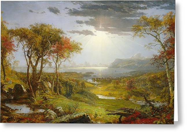 Autumn On The Hudson River  Greeting Card by Jasper Francis Cropsey