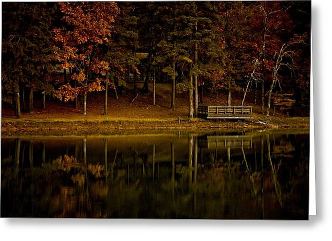 Autumn On The Lake Greeting Card by Linda Unger