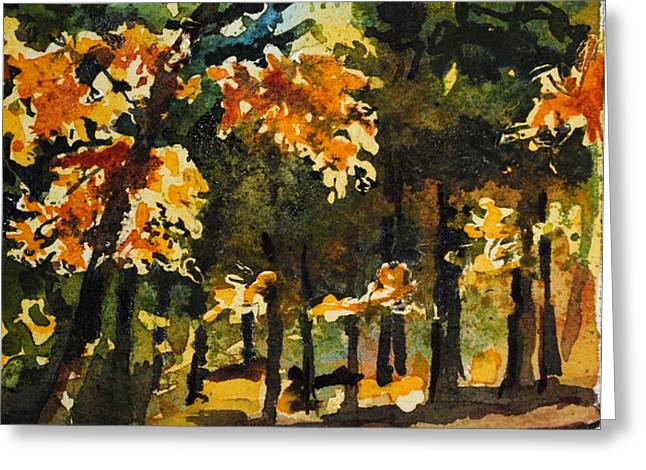 Autumn On The Natchez Trace Greeting Card by Spencer Meagher