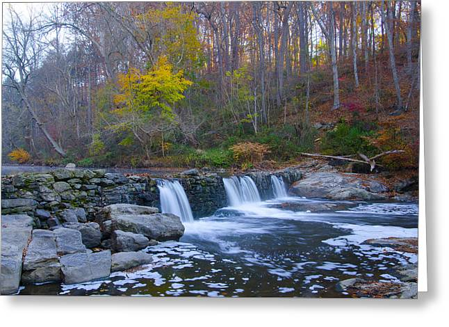 Greeting Cards - Autumn on the Wissahickon Creek Greeting Card by Bill Cannon