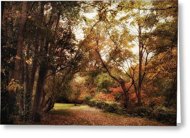 Autumn Passage Greeting Card by Jessica Jenney