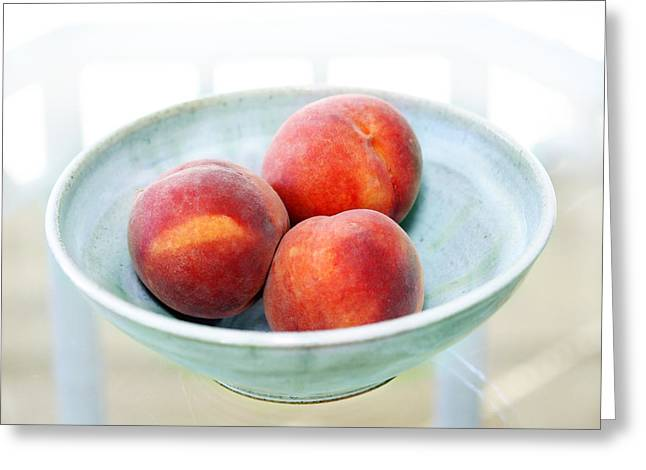 Autumn Peaches Greeting Card by Marilyn Hunt