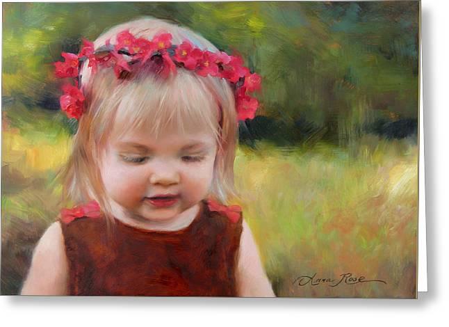 Autumn Princess Greeting Card by Anna Rose Bain