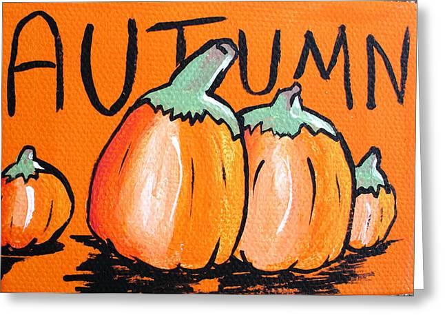 Autumn Pumpkins Greeting Card by Jera Sky