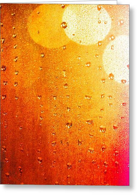 Autumn Raindrops Greeting Card by Dan Sproul