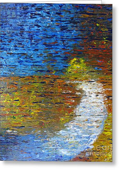 Sun Rays Paintings Greeting Cards - Autumn Reflection Greeting Card by Jacqueline Athmann