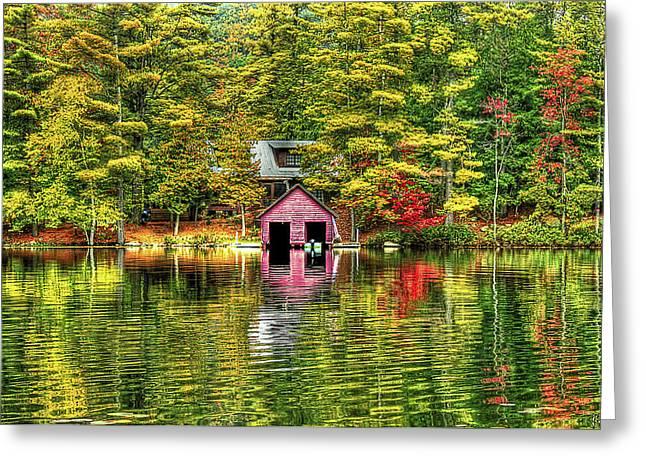 Foliage Photographs Greeting Cards - Autumn Reflections Greeting Card by Evelina Kremsdorf