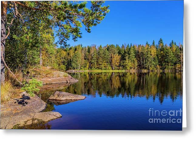 Autumn Reflections Greeting Card by Veikko Suikkanen