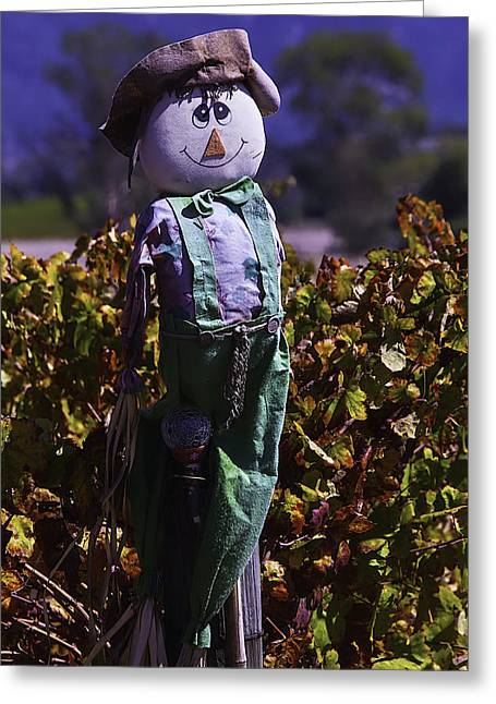 Autumn Scarecrow Greeting Card by Garry Gay