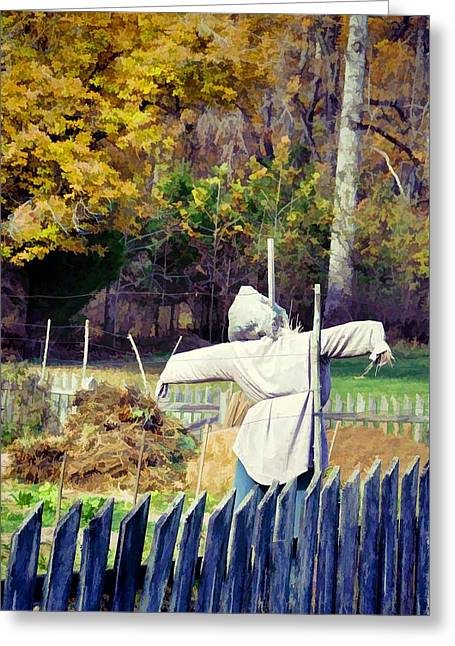 Autumn Scarecrow Greeting Card by Jan Amiss Photography