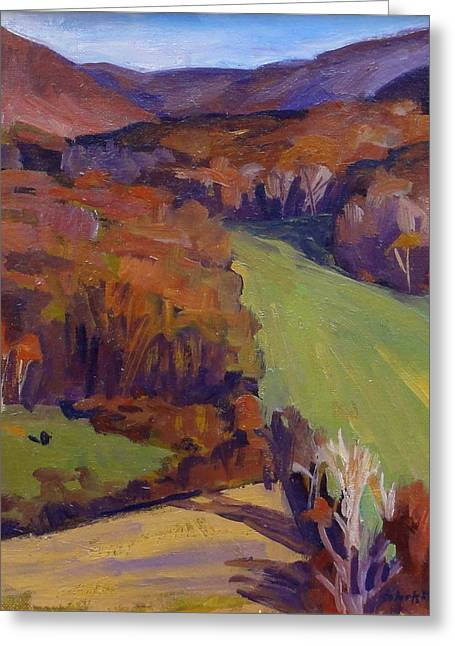 Shed Paintings Greeting Cards - Autumn Shapes Greeting Card by Thor Wickstrom