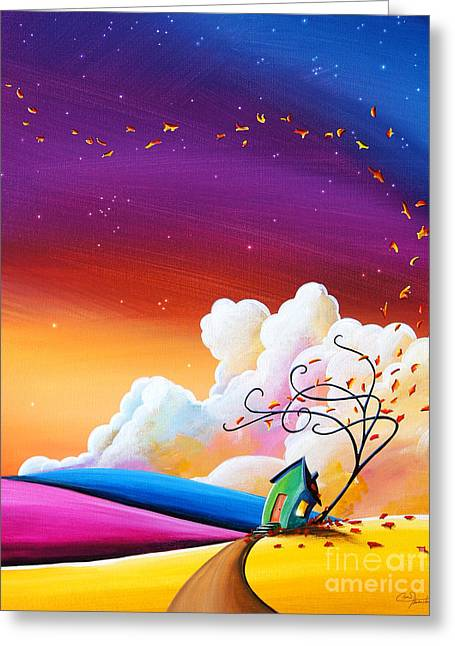 Dreamscape Paintings Greeting Cards - Autumn Skies III Greeting Card by Cindy Thornton