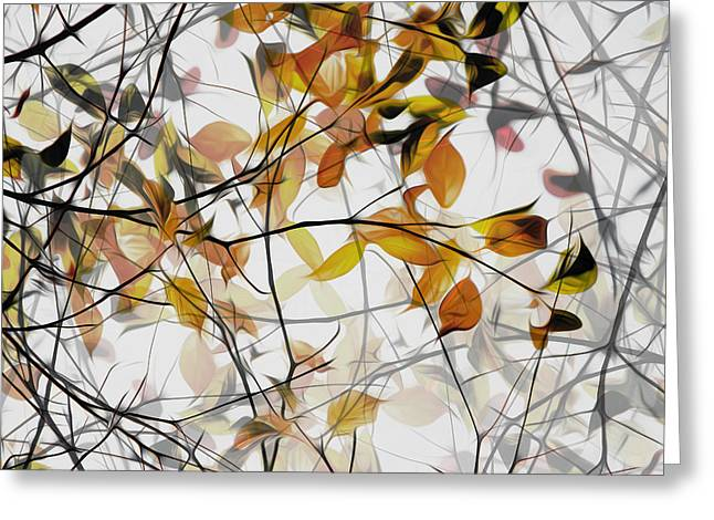 Branching Greeting Cards - Autumn Song Greeting Card by Gilbert Claes