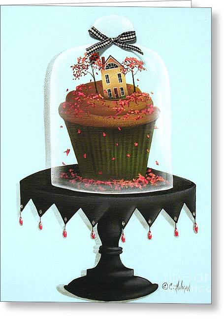 Autumn Spice Cupcake Greeting Card by Catherine Holman