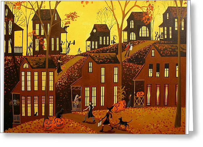 Black Cat Hills Greeting Cards - Autumn Splendor Greeting Card by Debbie Criswell