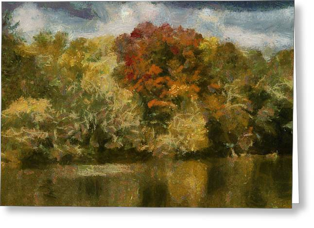 Duke Island Park Greeting Cards - Autumn Storm mp Greeting Card by Warren M Gray