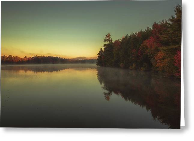 Peaceful Scenery Greeting Cards - Autumn sunrise Greeting Card by Chris Fletcher