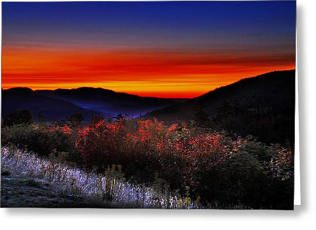 Reflection Of Sun In Clouds Greeting Cards - Autumn Sunrise Greeting Card by William Carroll